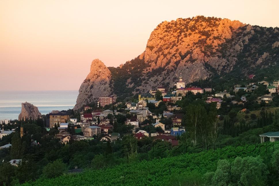 Крым, Ялта, Симеиз, гора Кошка, рассвет