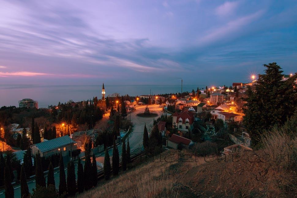 Крым, въезд в Симеиз
