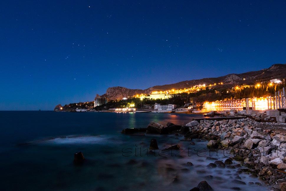 Крым, вид на Симеиз из Алупки