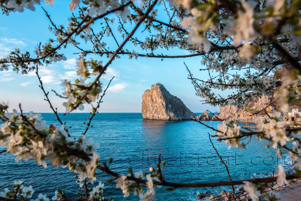 Крым, Симеиз, весна, скала Дива, рассвет