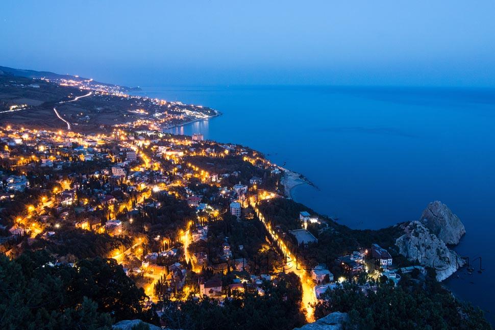 Крым, вид на Симеиз вид с горы Кошка