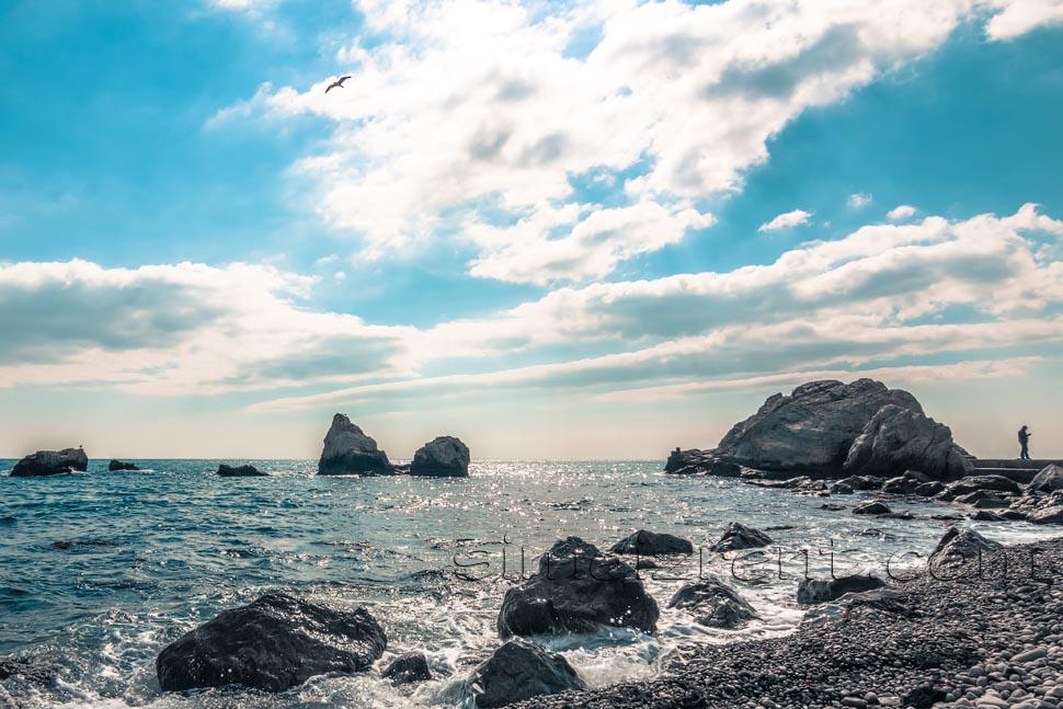 Крым, Симеиз, пляж Башмак воле санатория Симеиз
