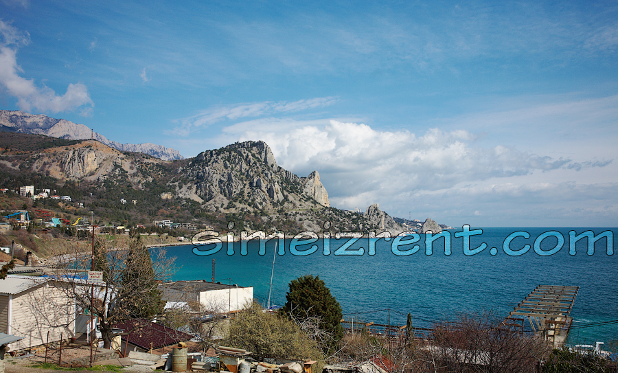 Крым, Симеиз, гора Кошка, вид из Голубого залива