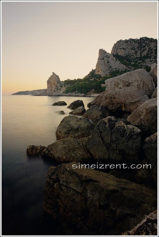 Крым, Симеиз, гора Кошка, скала Крыло Лебедя, вид от скалы Дива