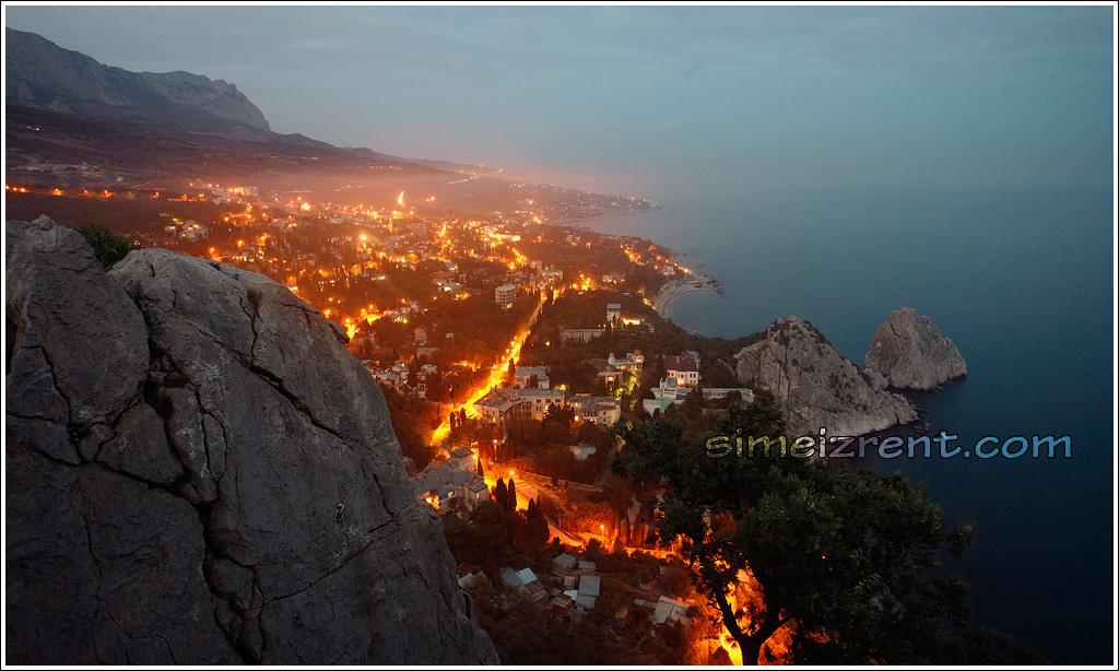 Крым, Симеиз, вид на Симеиз с горы Кошка